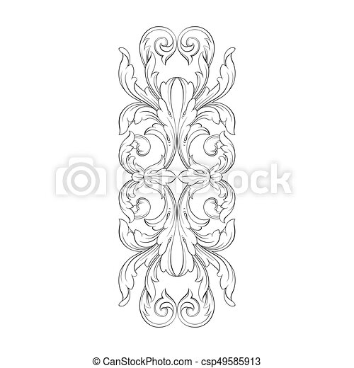 Stich Weinlese Rahmen Verzierung Barock Rolle Stich Antikes