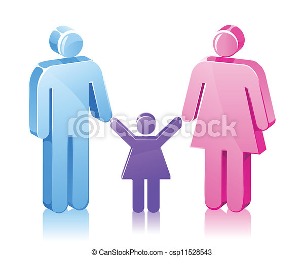 Stick Family daughter - csp11528543
