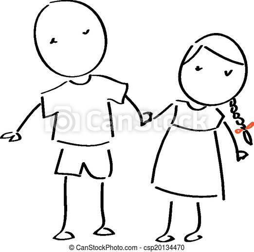 stick figure couple