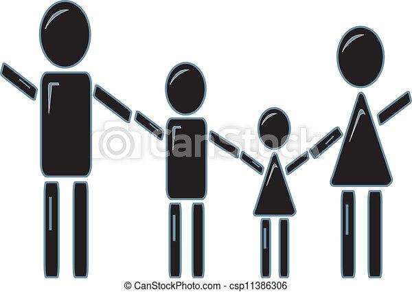 stick figure family holding hands simple design of a stick figure