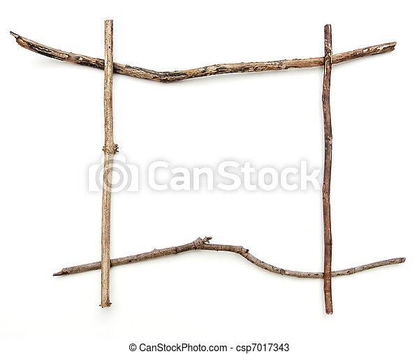 Stick frame. Stick frame on a white background.
