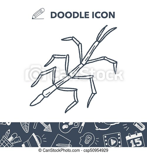 Stick insect doodle stick insect doodle csp50954929 ccuart Images