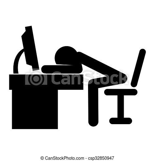 Stick Man Sleep Drawing Csp on Unhappy Man Cartoon