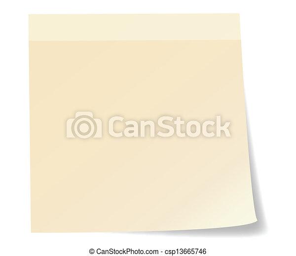 Stick note paper - csp13665746