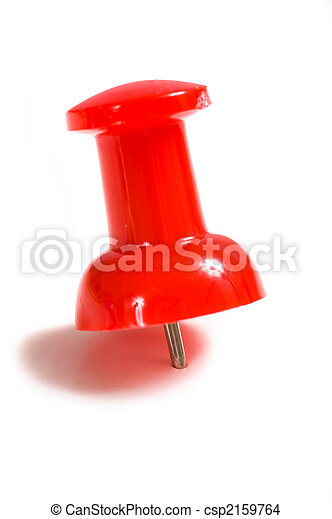 Stick Pins or push pins on White - csp2159764