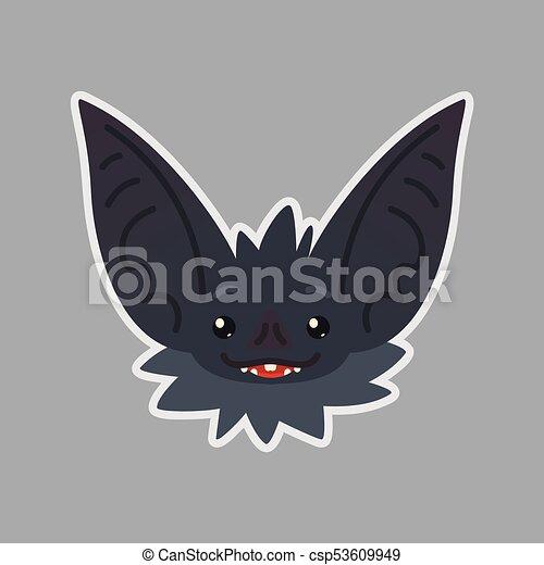 Sticker コウモリ ベクトル Hope Emoji かわいい ハロウィーン