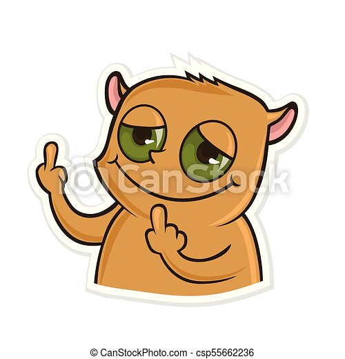 sticker for messenger with funny animal hamster showing vectors rh canstockphoto com funny animal faces clipart funny animal pictures clipart