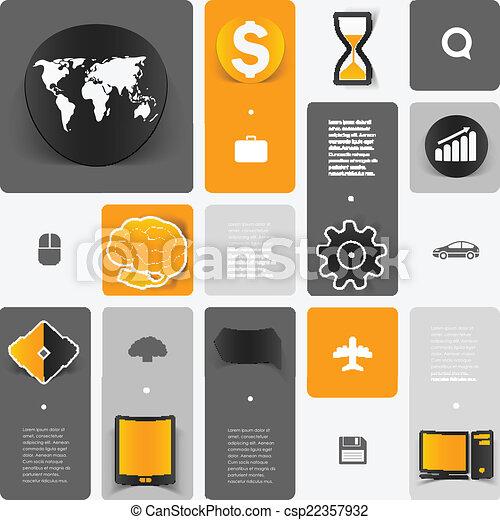 sticker, infographic, opleiding - csp22357932
