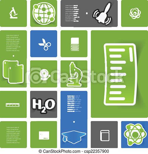 sticker, infographic, opleiding - csp22357900