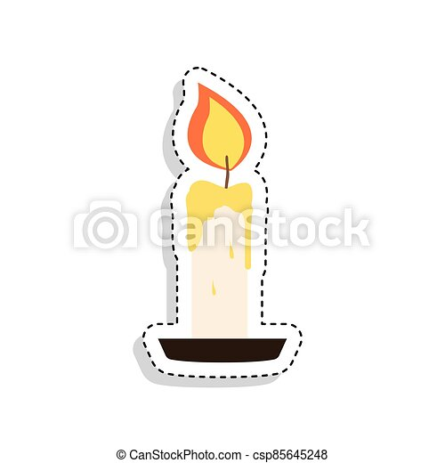 Sticker of a candle icon - csp85645248