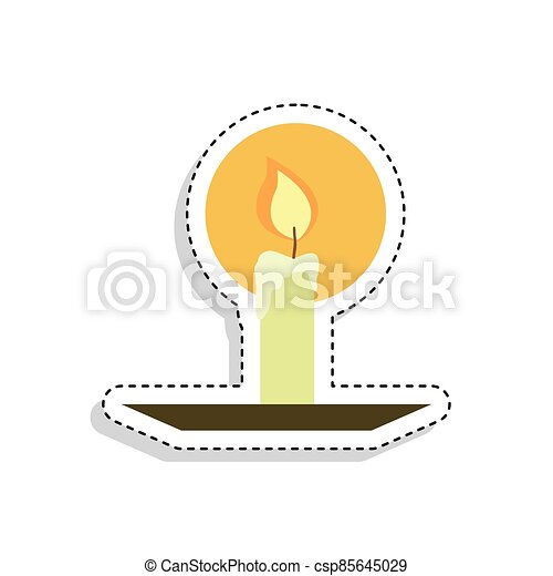 Sticker of a candle icon - csp85645029