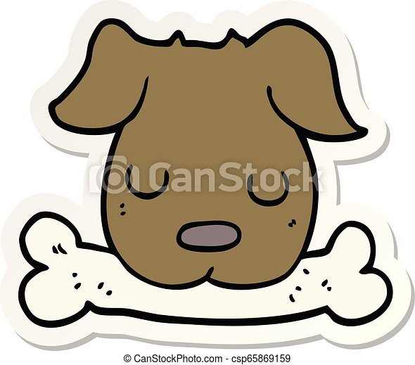 Puppy with Bone Clipart Free PNG Image|Illustoon