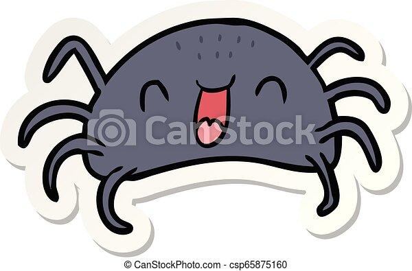 sticker of a cartoon spider - csp65875160