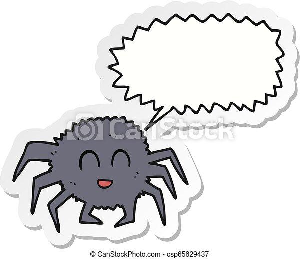 sticker of a cartoon spider - csp65829437