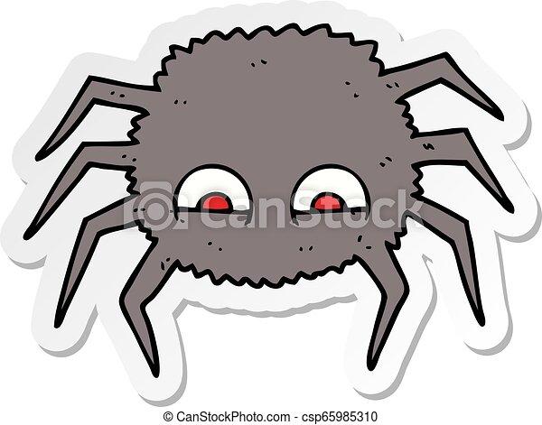 sticker of a cartoon spider - csp65985310