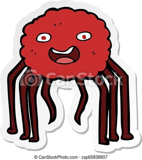sticker of a cartoon spider - csp65838807