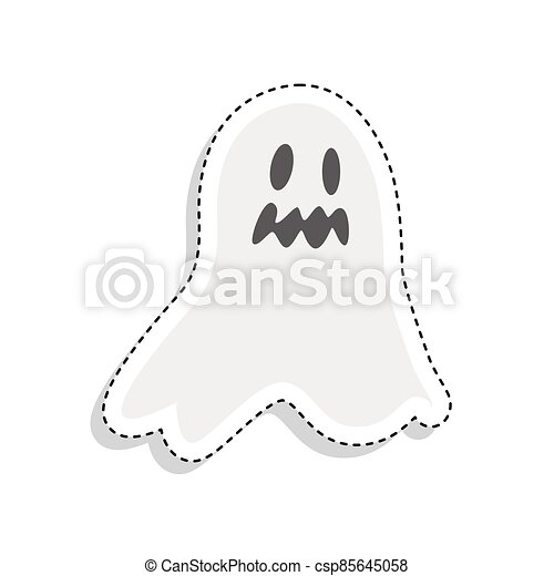 Sticker of a scary ghost icon - csp85645058