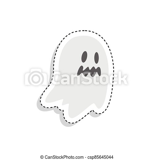 Sticker of a scary ghost icon - csp85645044