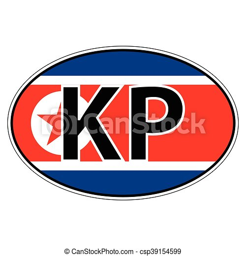 Sticker on car flag north korea korean republic csp39154599