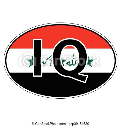 Sticker on car flag republic iraq csp39154630