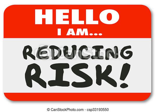 sticker, reductie, verantwoordelijkheid, beperkend, gevaar, label, naam, hallo, matiging - csp33193550