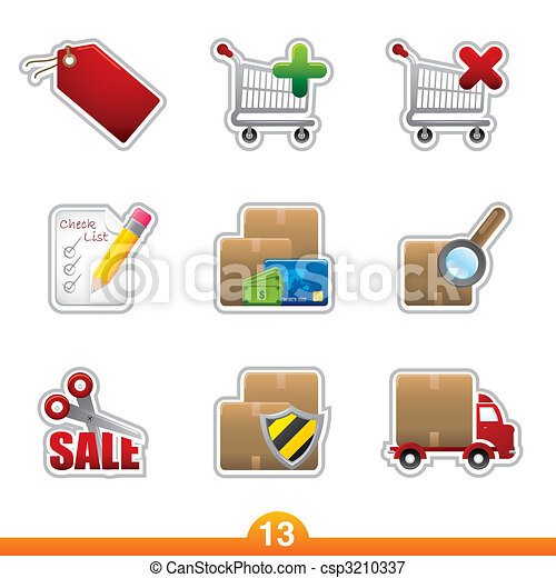 Sticker series 13 - internet shopping - csp3210337