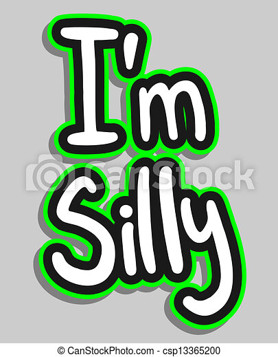 Sticker silly - csp13365200
