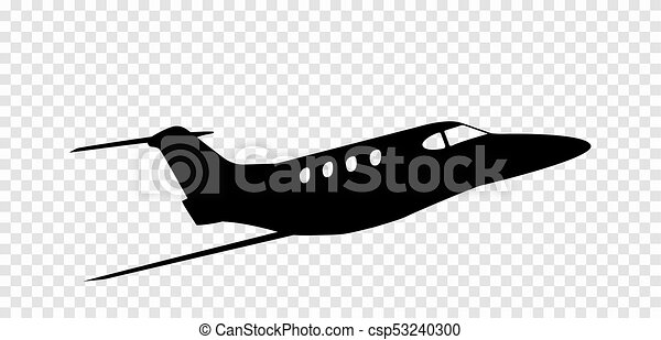 Sticker to car silhouette of airplane  Profession Pilot  Vector  Illustration