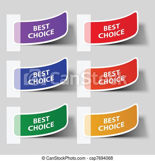 Sticker. Vector illustration. Eps 10.  - csp7694068