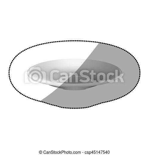 sticker white plate icon - csp45147540