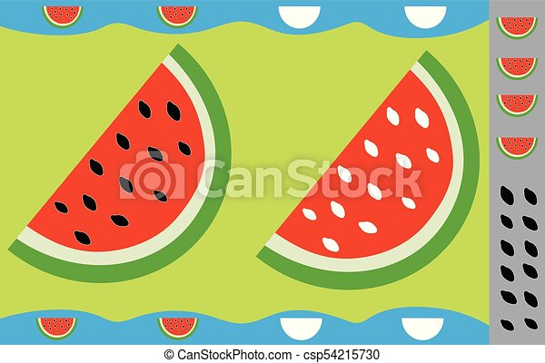 stickers for children watermelon educational game