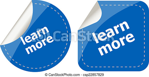 stickers label set business tag with learn more word - csp22857829