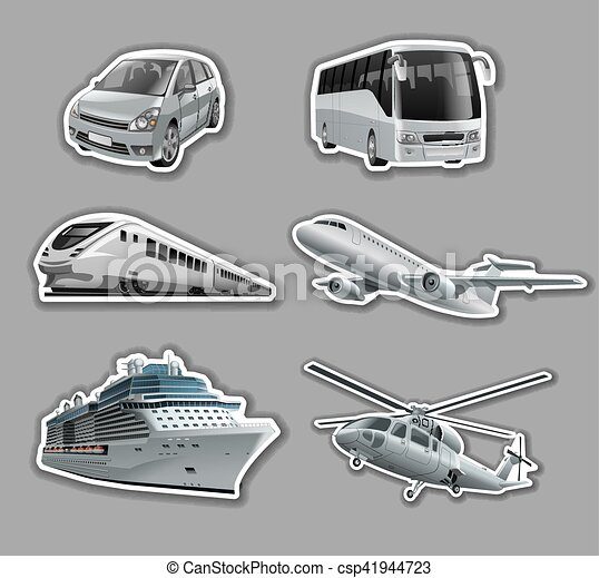 stickers of transport - csp41944723