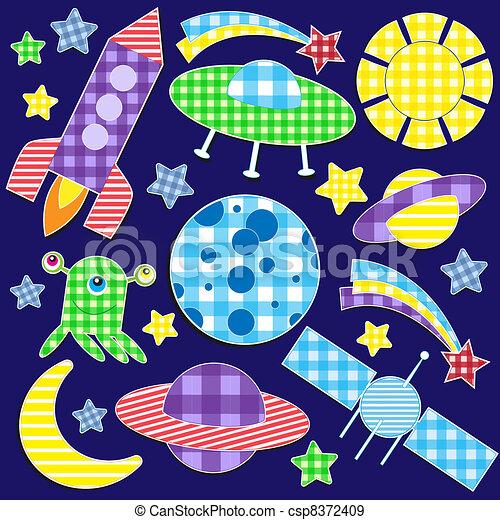 stickers, ruimte - csp8372409