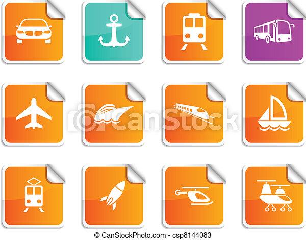 stickers., transport - csp8144083