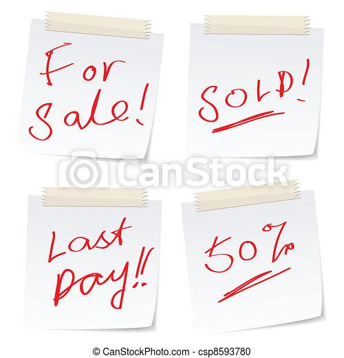 stickers, verkoop - csp8593780
