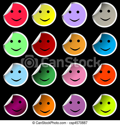 stickers with smiley faces stock illustrations search eps clipart rh canstockphoto com stickers clipart black and white stickers clipart