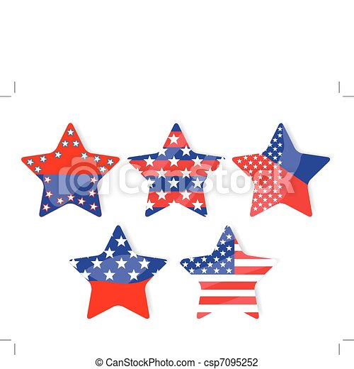 Stickers with stars  - csp7095252