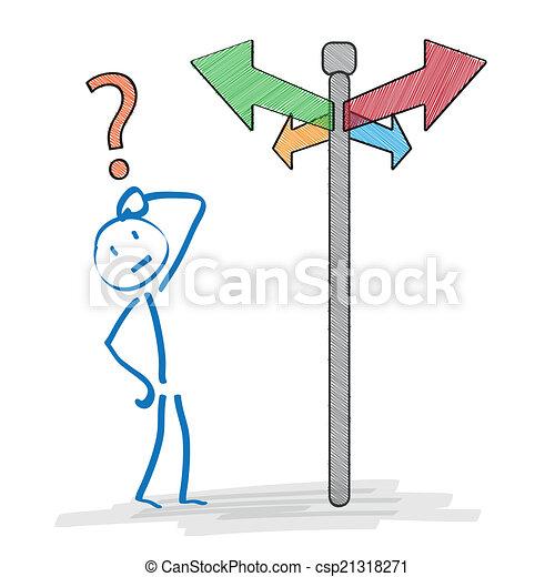 Decisión Stickman - csp21318271