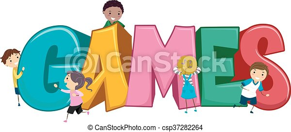 stickman kids games stickman illustration of kids playing games rh canstockphoto ca clip art game day clipart ganeshji png