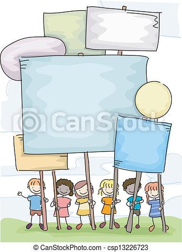 Stickman Kids Plackarads - csp13226723