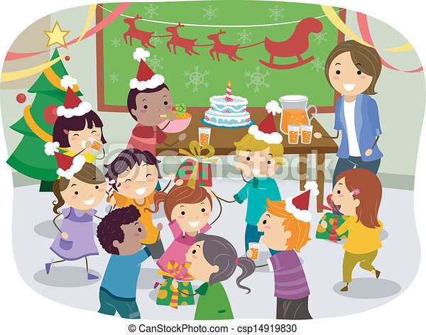 Stickman Kids School Christmas Party