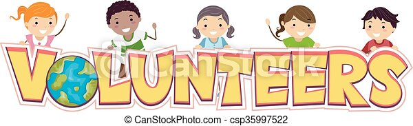 Stickman Kids Volunteers - csp35997522