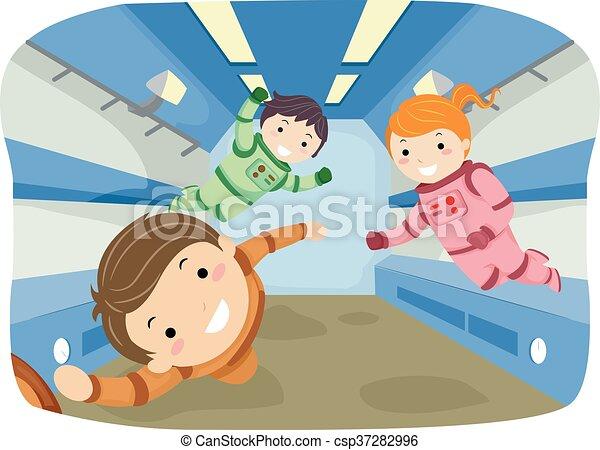 Stickman Kids Zero Gravity - csp37282996