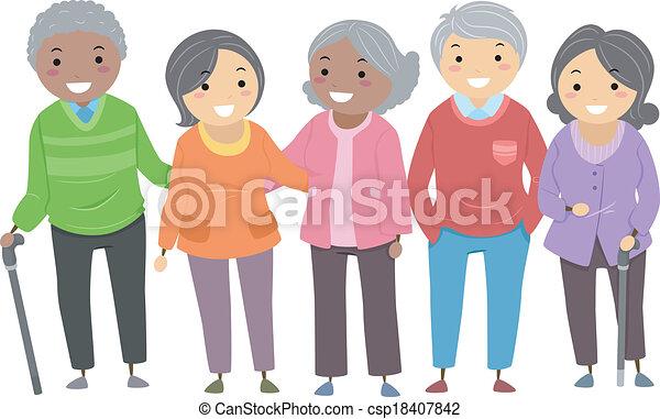 Stickman Senior Citizens - csp18407842