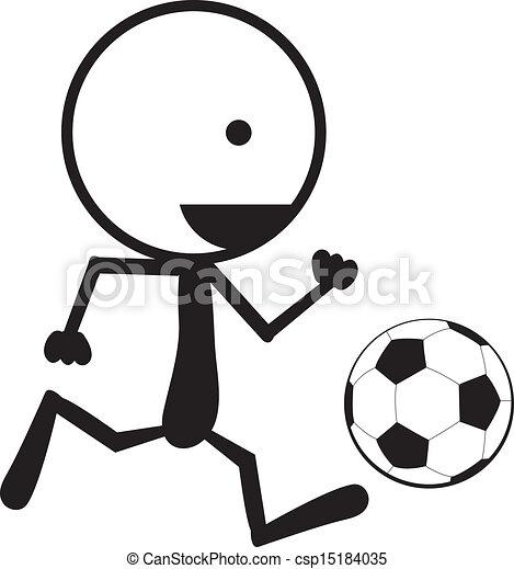 Stickman Soccer A Stickman Man Running With A Soccer Ball
