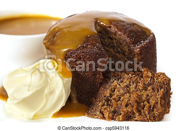 Sticky Date Pudding - csp5943116