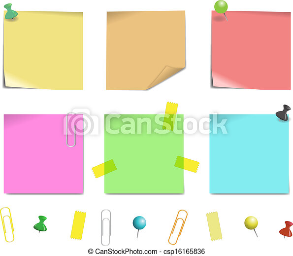 sticky note paper - csp16165836