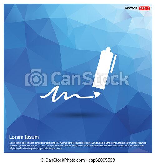 Schreibe Stiftsymbole - csp62095538