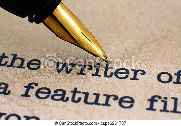 Stift auf Autoren - csp16261737